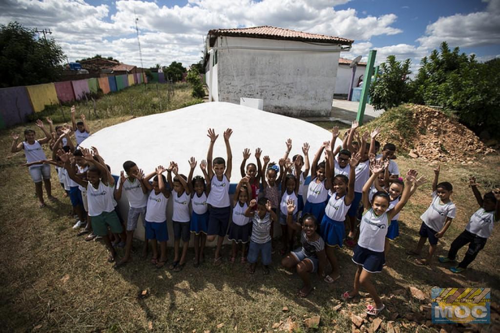 Cisterna transforma rotina de colégio estadual em Conceição do Coité (BA)