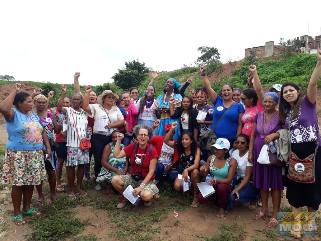 Mulheres de Araci participaram de Intercâmbio e Marcha Pela Vida das Mulheres e Pela Agroecologia no Polo da Borborema
